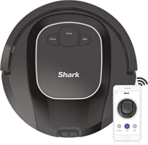 Shark ION Robot Vacuum R87 with Wi-Fi and Voice Control, 0.6 Quarts, in Black