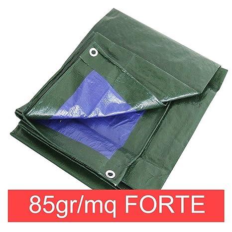 Sti Telo Occhiellato 85 Gr Verde Blu Impermeabile Copritutto