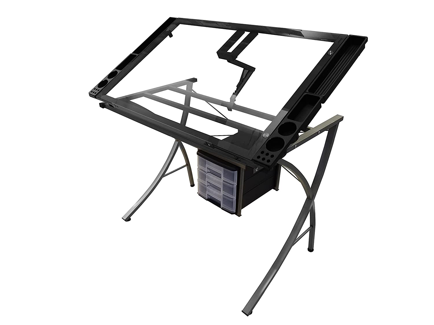 Amazon.com: Artieu0027s Studio Office Drafting Table Art Drawing Adjustable  Craft Station: Office Products