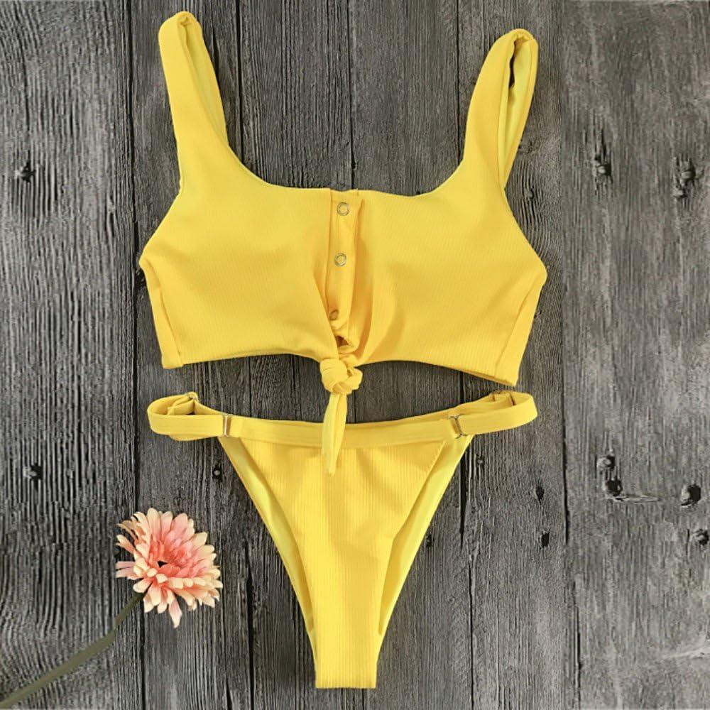 iLUGU Two Pieces Bikini For Women Cami Briefs Swimwear Swimsuit Beachwear