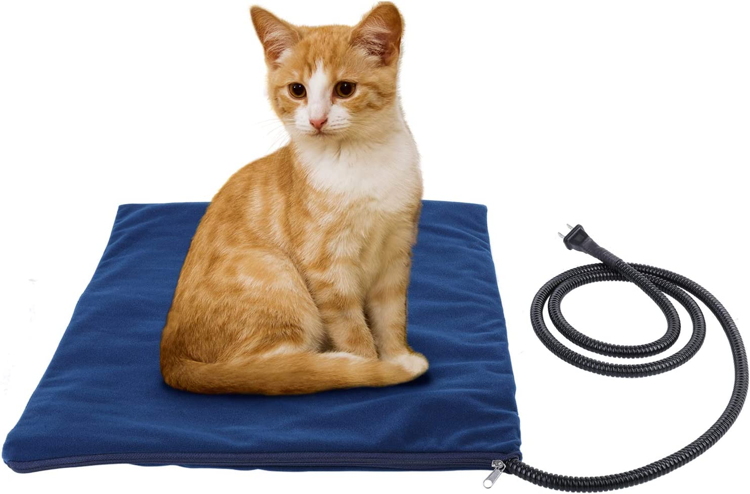 Deckey Pet Heating Pad, Indoor Waterproof Electric Heating Pads, Overheat Protection, Chew Resistant, Convenient Cleaning for Dogs and Cats