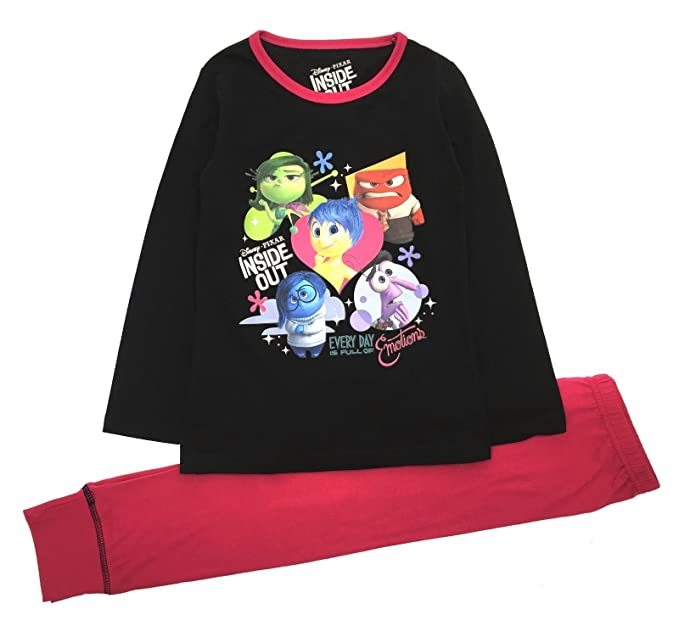 Pijamas para chicas Disney Pixar Inside Out (7-8 años, Negro