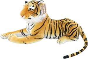 """JESONN Realistic Soft Stuffed Animals Plush Toy Tiger Beige for Kids Gifts,18.9"""" or 48CM,1PC"""