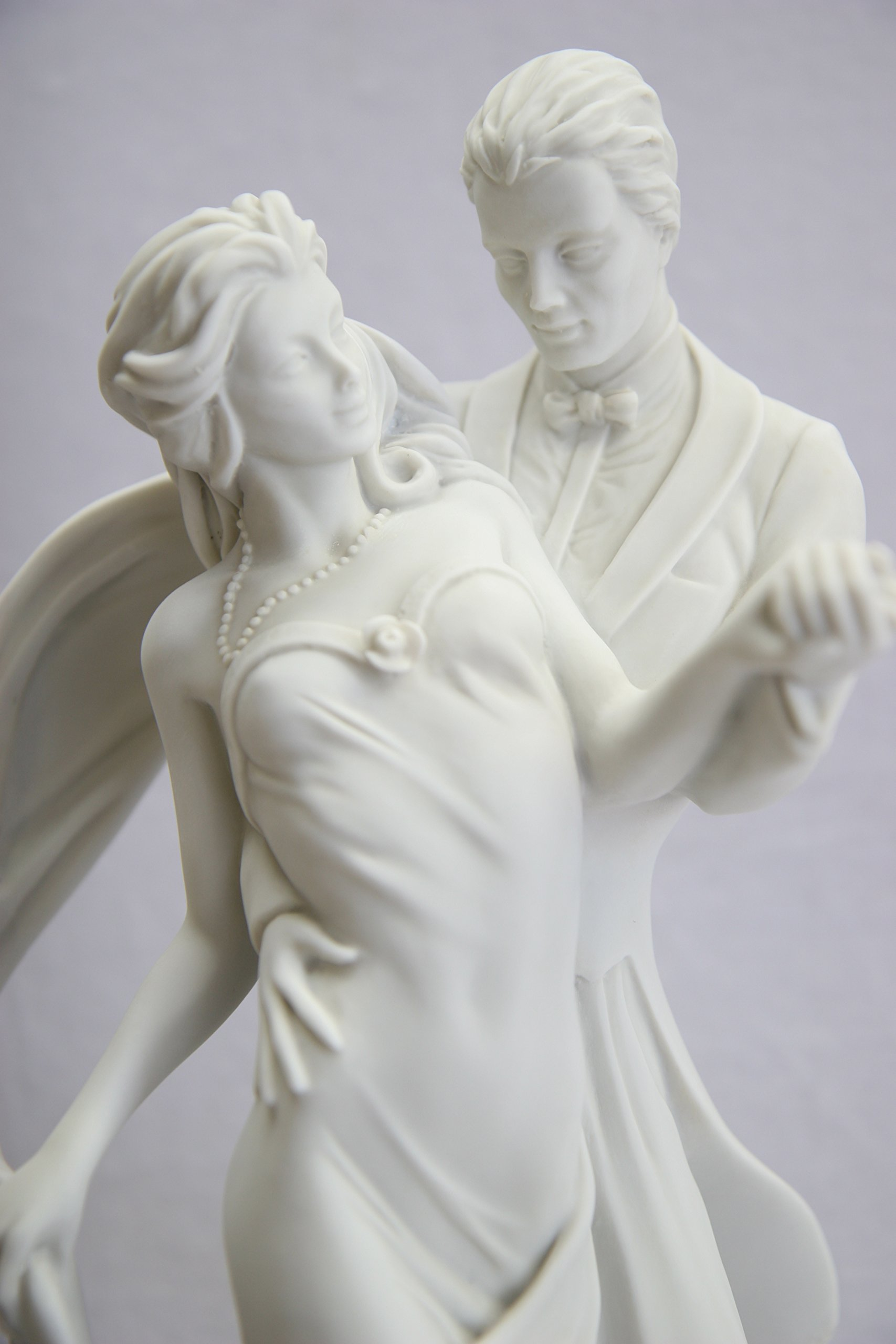 15.5'' Romantic Couple of Dancer Dance Statue Sculpture Figurine By Vittoria Collection Made in Italy by Vittoria Collection (Image #4)