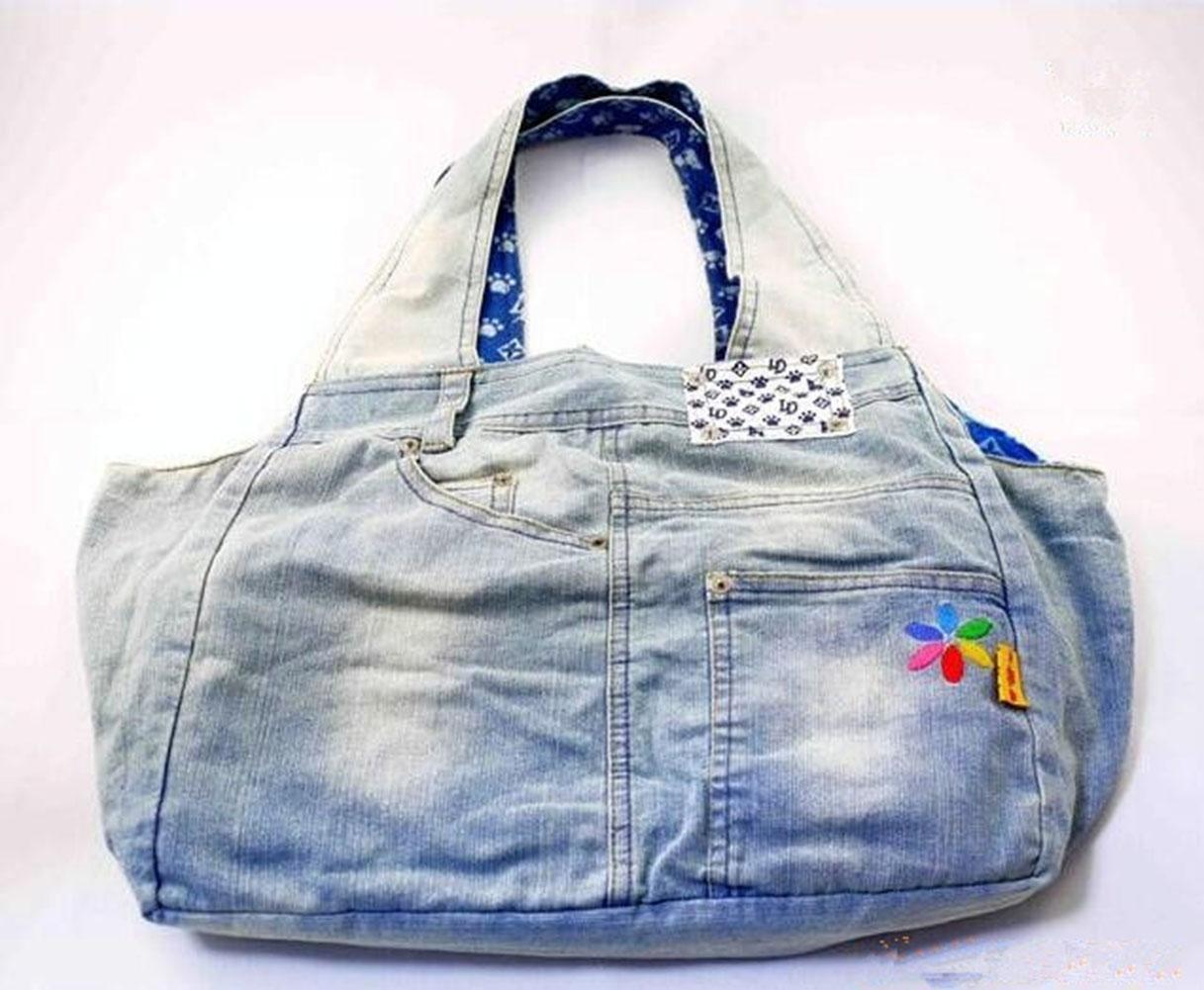 CHWTLB Casual Pet Bag Bagnato Cowboy blu