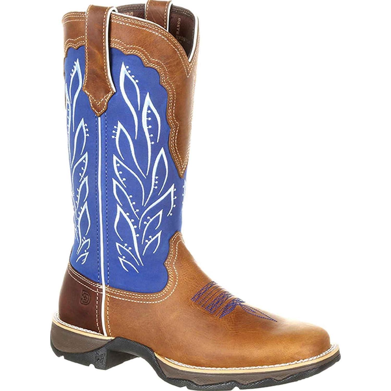 Durango Women's Lady Rebel Western Boot B079VXJLR6 7 M US|Brown/Ocean Tide Water
