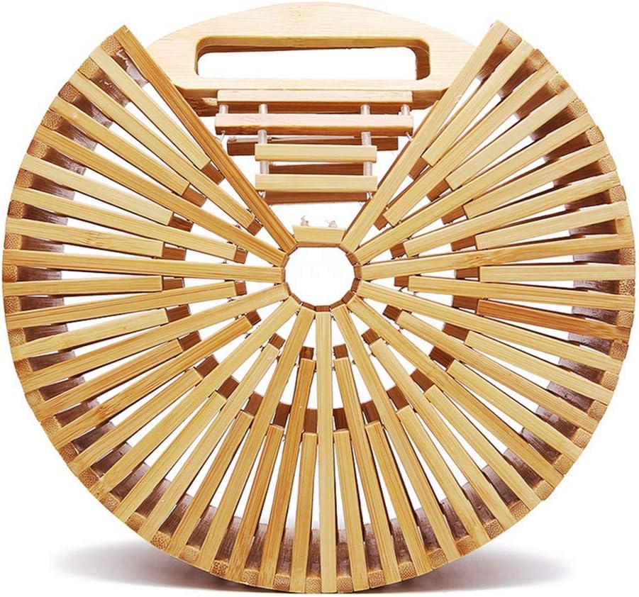 Fashion Bamboo Handbag Handmade Woven Beach Bag for Womens Bamboo