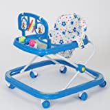 Dash Classic Baby Walker with Rattles and Hanging Toys (Blue)