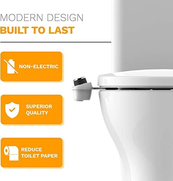 Bio Bidet Slimedge Simple Bidet Toilet Attachment In White With Dual Nozzle Fresh Water Spray Non Electric Easy To Install Brass Inlet And Internal Valve Amazon Com