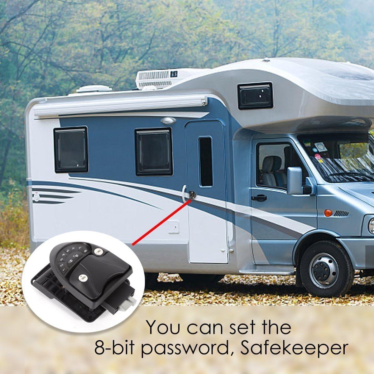 TBvechi Camper Trailer Keyless RV Entry Door Caravan Lock Latch Handle Knob Deadbolt-Black