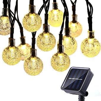 Qedertek Guirlande Solaire Extérieure, 30 LED Guirlandes Lumineuses ...