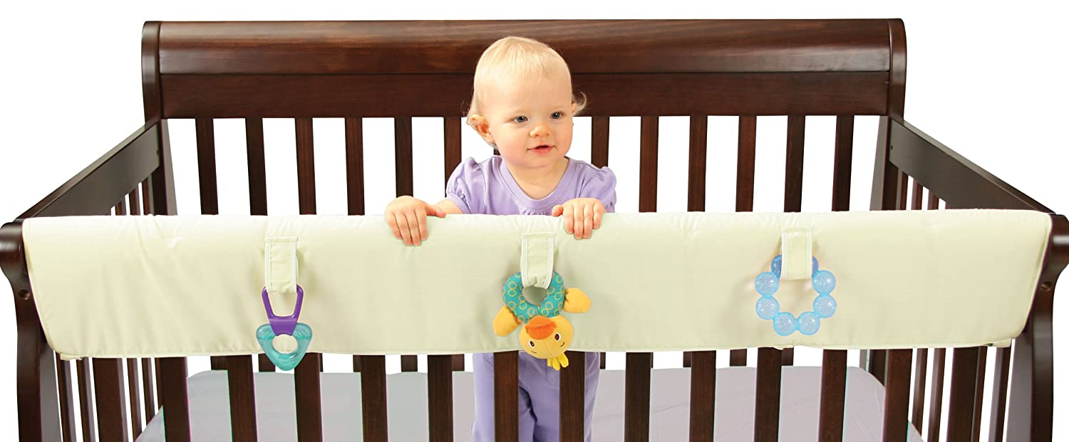 Leachco Easy Teether XL Convertible Crib Rail Cover, Ivory   B001D20K40