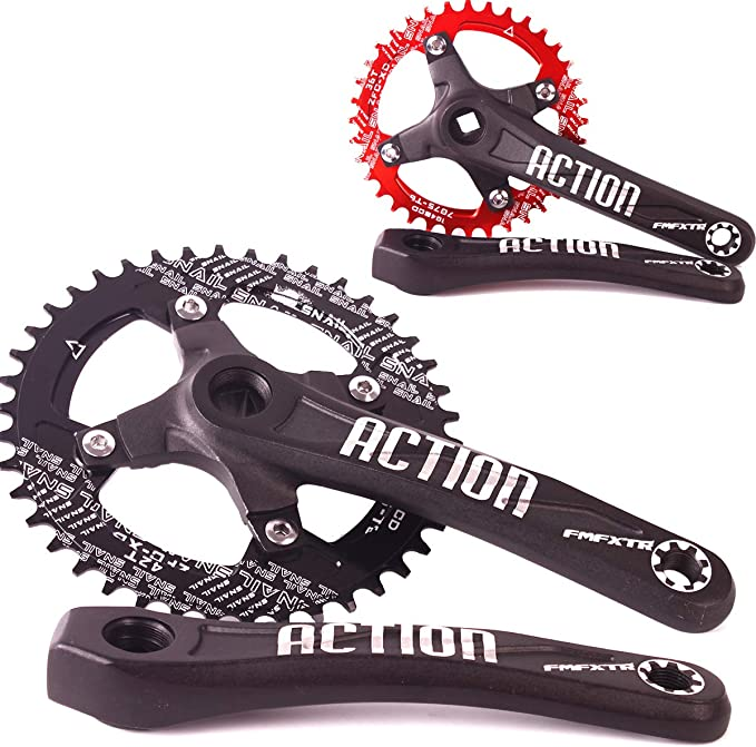 BB 32 34 36 38t Aluminum 170mm Crankset 104bcd MTB Bike Crank Set Chainring