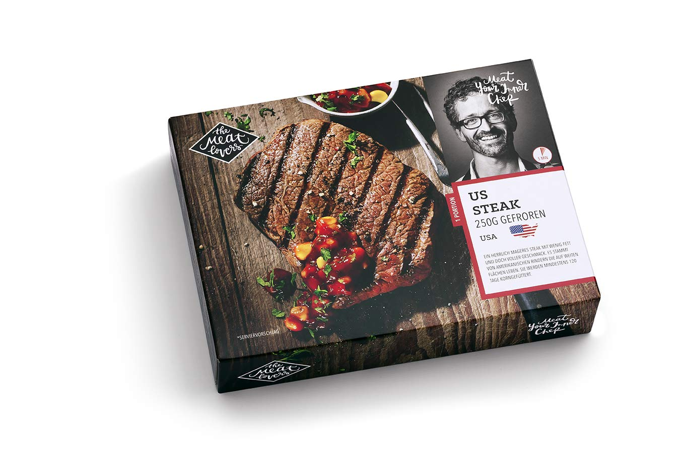 Amerikanischer Kühlschrank Flach : The meatlovers us steak 1 stück 250g tiefgefroren : amazon.de