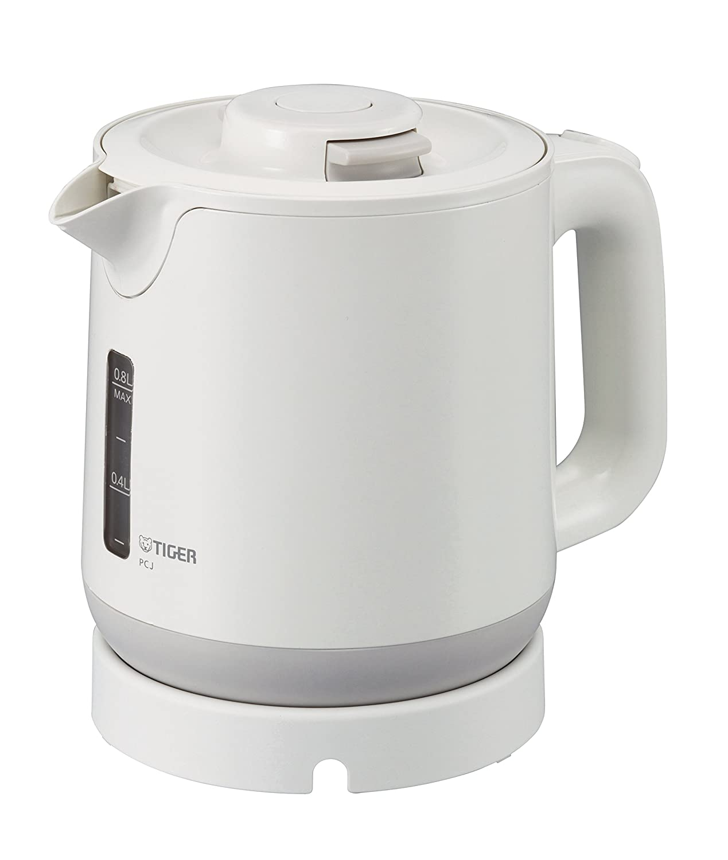 TIGER electric kettle Wakuko 0.8 liters white PCJ-A080-W