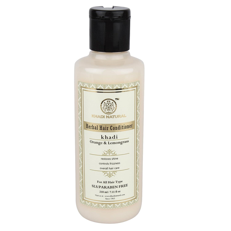Khadi Herbal Orange Lemongrass Hair Conditioner- SLS & Paraben Free - 210 ml B00FZHAS1O