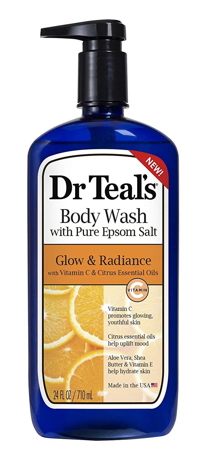 Dr. Teal's Glow & Radiance with Vitamin C & Citrus Essential Oils Body Wash 24oz Pack of 4