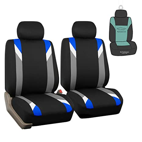 Terrific Fh Group Fb033102 Premium Modernistic Seat Covers Blue Black With Gift Fit Most Car Truck Suv Or Van Pdpeps Interior Chair Design Pdpepsorg