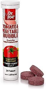 Dr. Joe Tomato & Vegetable Bubble Plant Food, Outdoor Fertilizer, Garden Fertilizer, Potted Plants, 14 Tablets (14 Gallon), 14-14-17