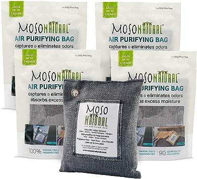 Amazon.com: Moso Natural, bolsa purificadora de aire Elimina ...