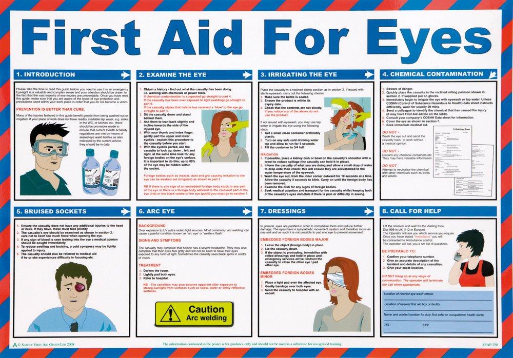St John Ambulance A2 Poster First Aid for Eyes St John Ambulance Supplies P95111