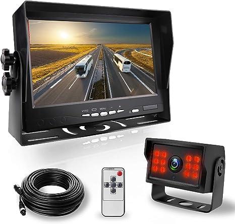 Car 3.5/'/'LCD RearView Monitor Night Vision Reverse Image Waterproof LED`Camera!