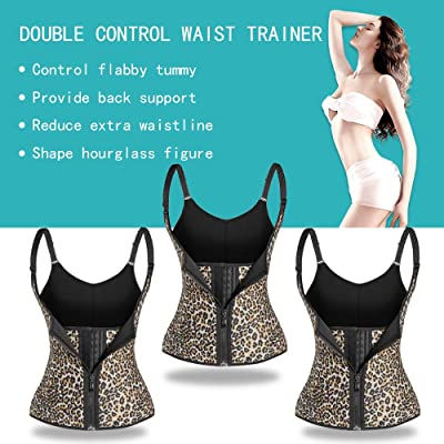 Waist Trainer for Women Zippered with 2//3 Belts Slimming Waist Cincher Rose Red Gray Black Body Shapewear Sports Girdle Size S-6XL