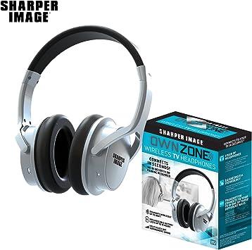 Sharper Image Own Zone - Auriculares inalámbricos para TV, Color Plateado: Amazon.es: Electrónica