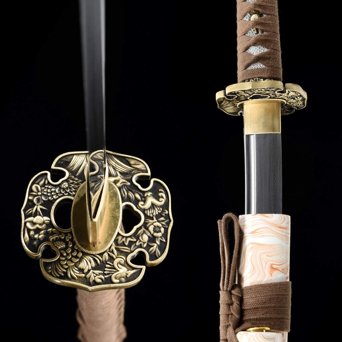 Amazon.com: Eeroton Damasco - Espada de acero forjado a mano ...