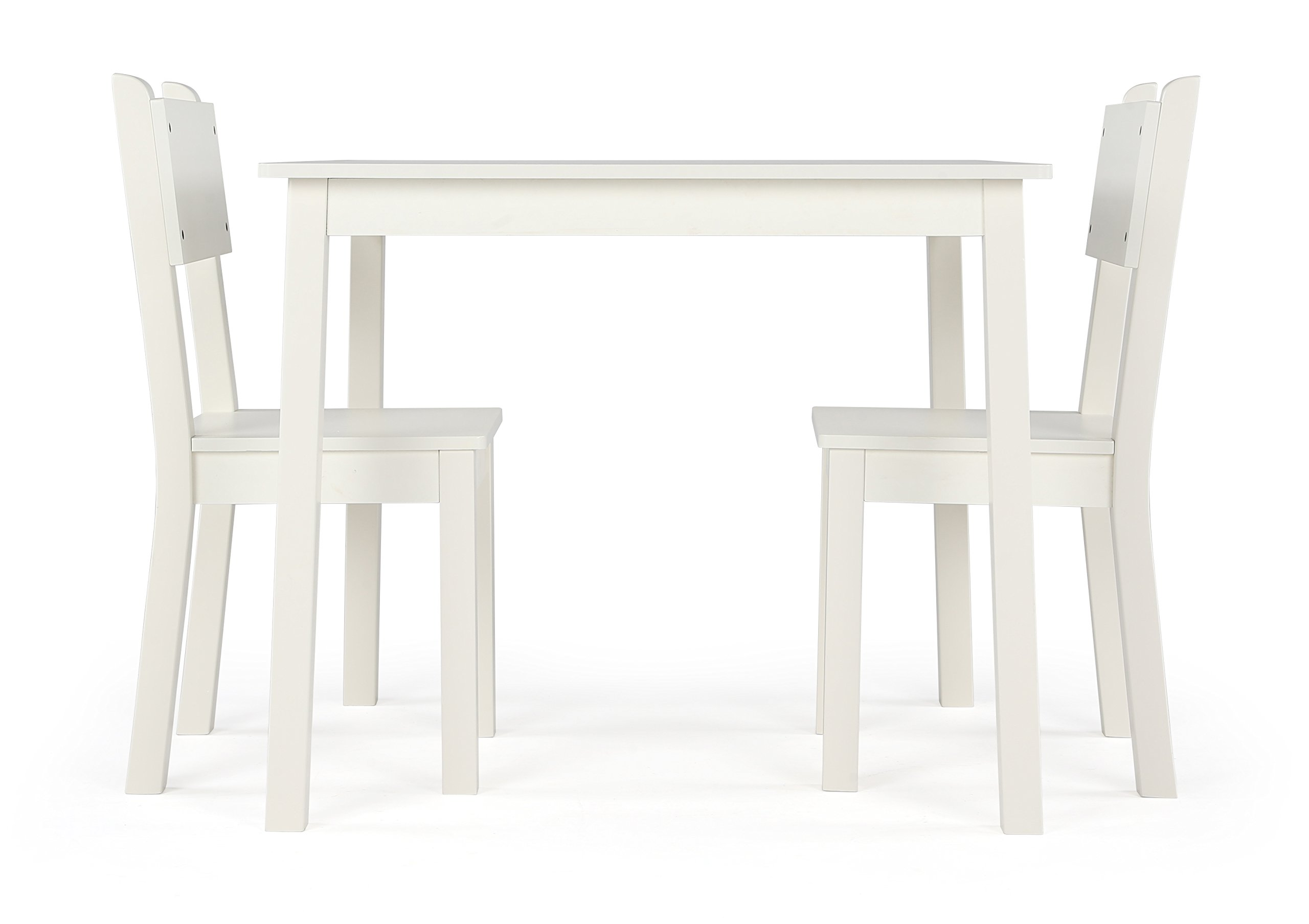 Humble Crew CL374 Wood Table and 2 Chairs Set, White