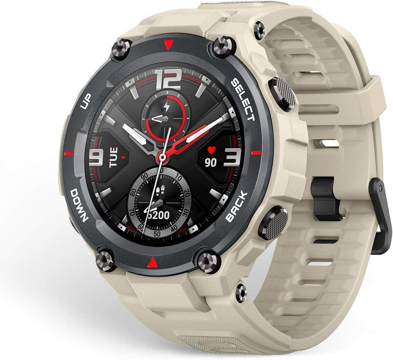 Amazfit T-Rex Smartwatch Pulsera Inteligente Reloj Deportativo Monitor de Sueño Notificación Llamada y Mensaje 5ATM Diseño Resitente Ambiente para Andriod y iOS Khaki