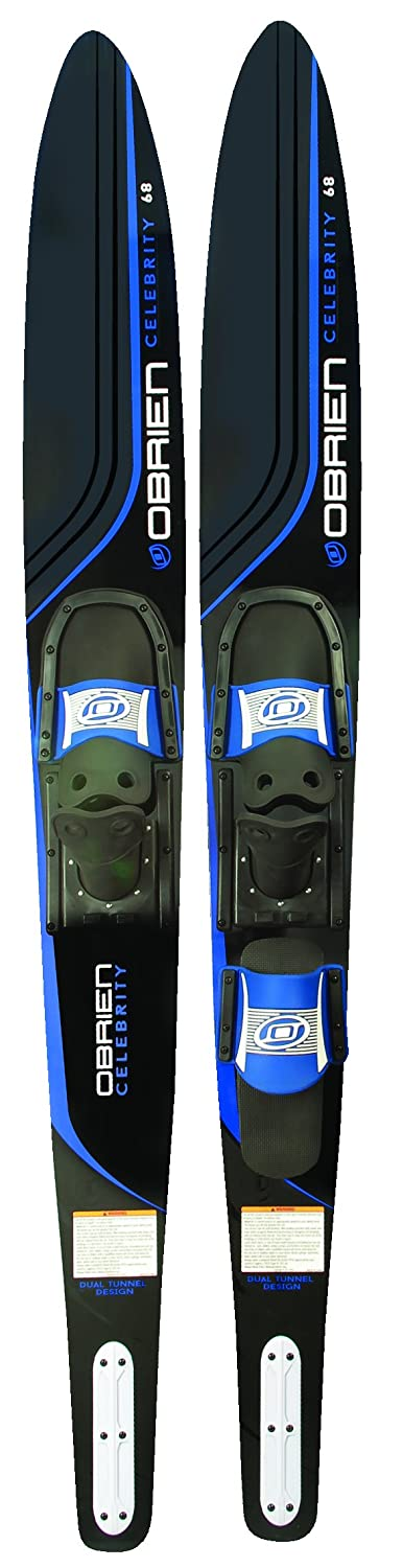"""O'Brien Celebrity Combo Water Skis with 700 Bindings Blue 68"""" Motion Water Sports Inc. 2161120"""