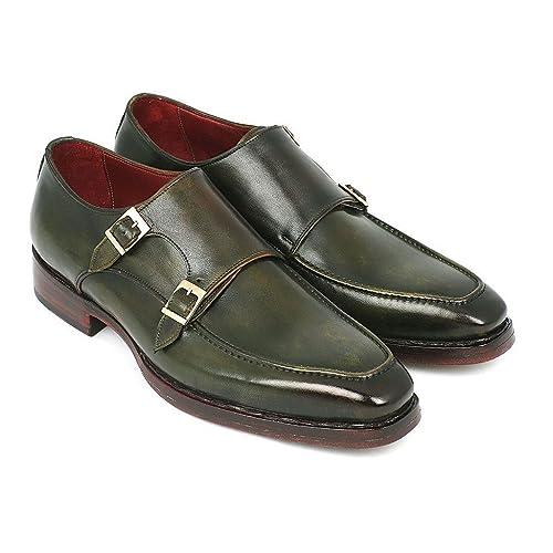 Paul Parkman - Mocasines de Piel para hombre verde verde: Amazon.es: Zapatos y complementos