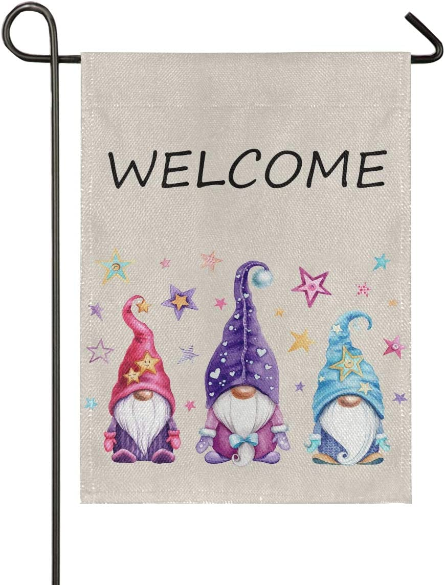 Christmas Gnomes Winter Garden Flag 12x18inch Welcome Double-Sided for Outside Imitation Linen Home Garden Flower Decorative 2090036