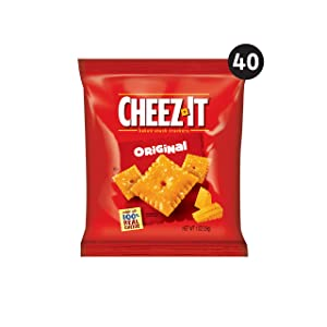 Cheez-It, Baked Snack Cheese Crackers, Original, Made with 100% Real Cheese, 2.500lb Case (40 Count)