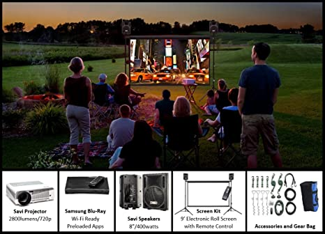 Amazon.com: Backyard sistema de cine 9-foot sistema de ...