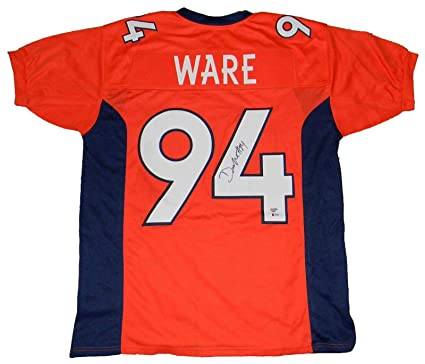 promo code 79a62 5e58a DeMarcus Ware Signed Jersey - #94 Orange Beckett - Beckett ...