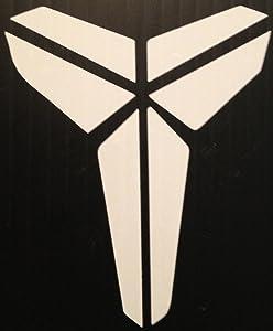 "Black Mamba Logo - Vinyl 6"" Tall (Color: White) Decal Laptop Tablet Skateboard car Windows Sticker"
