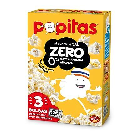 Popitas Zero Palomitas Para Microondas Nacional - Pack de 3 x 70 g - Total: