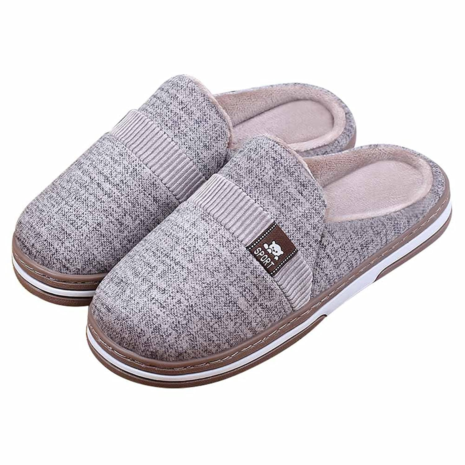 Soft Couple House Slippers Anti-Slip Warm Cotton Comfortable Unisex Home Shoes