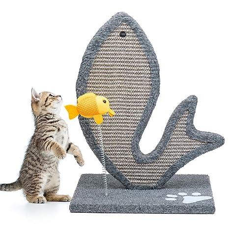 Amazon.com: Cyttengo Elegante rascador de gato con gato ...