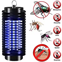 Electronic Mosquito Killer Lamp,Bug Zapper,Flying Insect Trap UV Light Lamp Portable Standing or Hanging for Indoor and Outdoor Use