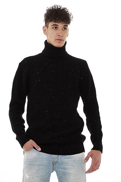Outfit Maglione Uomo Collo Alto OKN052 (XXL, Bianco): Amazon