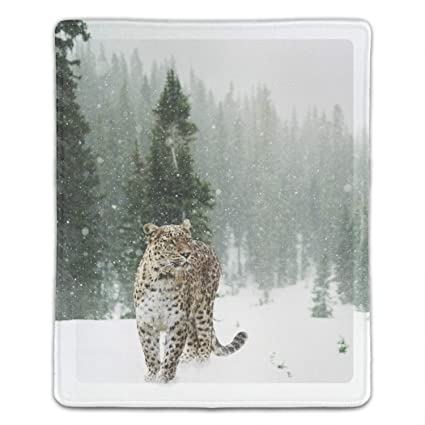 Amazon Com Computer Snow Leopard Mouse Pad 8 66 X 7 08