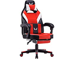 Gaming Chair Racing Office Chair High Back Big and Tall Computer Desk Chair PU Leather Chair Executive and Ergonomic Swivel C