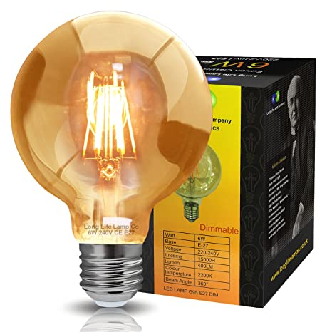 UK Seller Home, Furniture & DIY Bulb LED Light E27 4W Dimmable Industrial Filament LED Lamp Retro