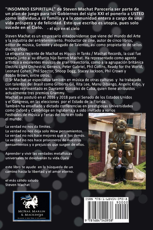 Insomnio Espiritual (Spanish Edition): Steven Machat ...