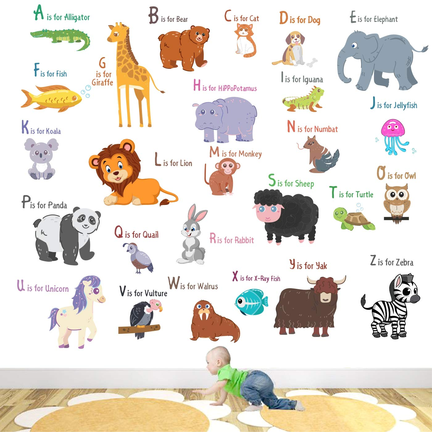 kids learning chart animals