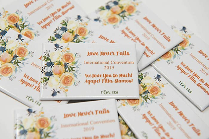Amazon com: 50 Lapel Buttons Pins - Love Never Fails for the