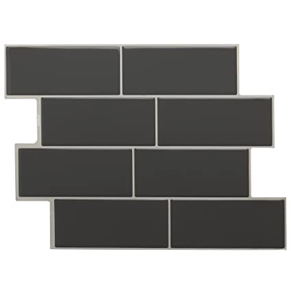 Amazon.com: STICKGOO l and Stick Subway Tile, Stick on Vinyl ... on kitchen remodels with subway tiles, kitchen ideas with hardware, kitchen backsplash with subway tiles, kitchen ideas with farmhouse sink, kitchen ideas with granite, kitchen ideas with brick, kitchen ideas with white cabinets,